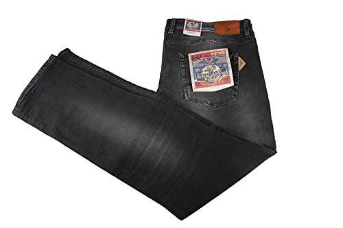 Nagano Chogo Herren Jeans Jeanshose Gr. 38 Schwarz Neu
