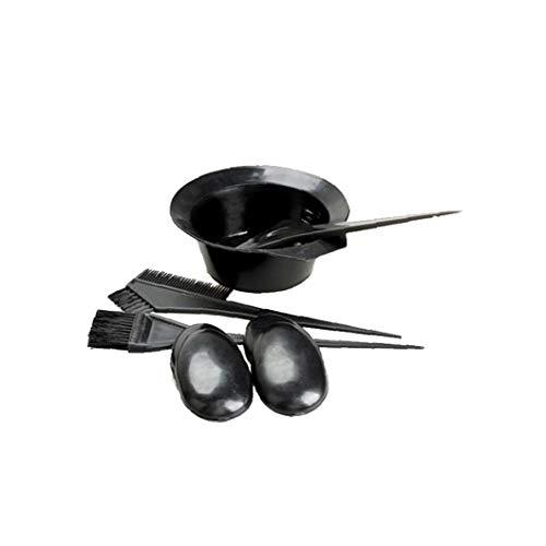 5 Pièces/Set Set Black Hair Dye Kit Brosses Coiffure Bowl Combo Salon Couleur Des Cheveux Set Dye Tint Diy Tool Kit