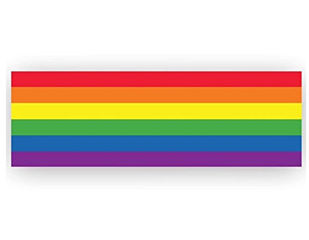 Rectangle Rainbow Banner for Gay Pride Marches and Events (53 x 17 Vinyl Banner)