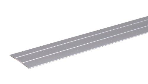 GAH-Alberts 484491 Übergangsprofil - selbstklebend, mit zwei Rillen, Aluminium, silberfarbig eloxiert, 900 x 38 mm