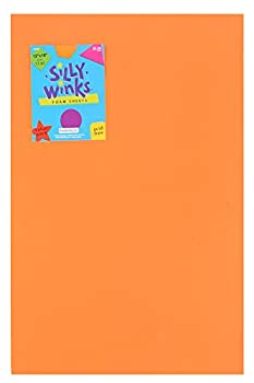 Silly Winks Primary Foam Sheet Pack 12 x 18 inches Assorted Colors 12 Count