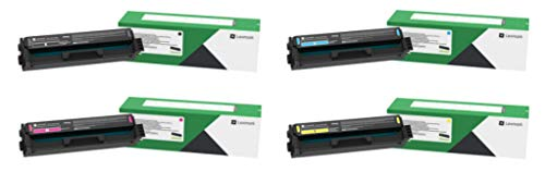 Lexmark C3210C0, C3210K0, C3210M0, C3210Y0 CMYK 4-Color Return Program Toner Cartridge Set for C3224, C3326, MC3224, MC3224, MC3326