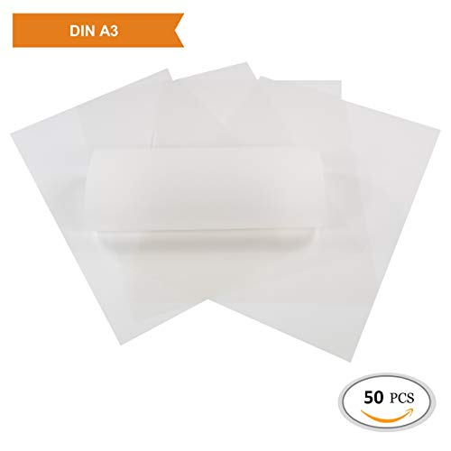 ZADAWERK® Transparentpapier - 112 g/m² - A3 - weiß - 50 Stück - Laterne basteln