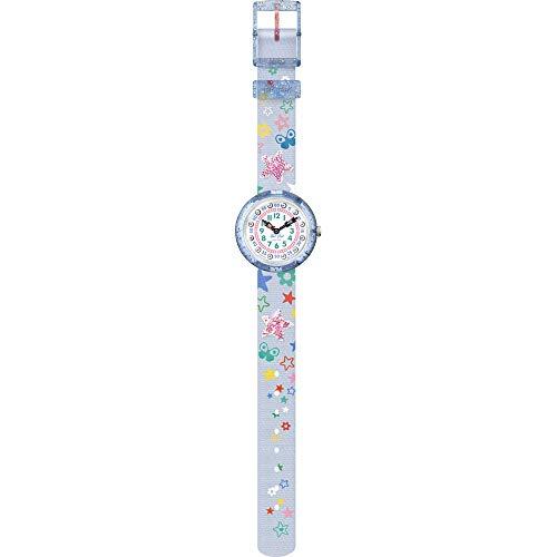 Flik Flak Mädchen Analog Quarz Uhr mit Textil Armband FBNP136