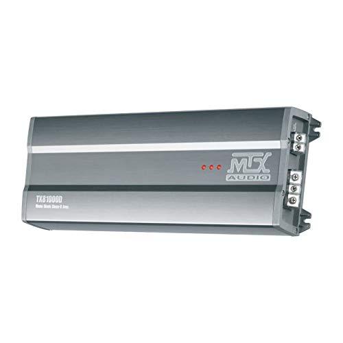 MTX TX81000D versterker 12 V blok mono klasse D 1 x 1000 W RMS aluminium