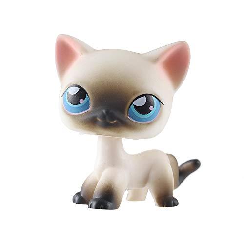 Rare pet Shop lps Toy Stand Pequeño Shorthair gato Rosa Negro Antiguo Original Perro Anime Muñeca Modelo de Juguete Niños Festival Regalo de Cumpleaños