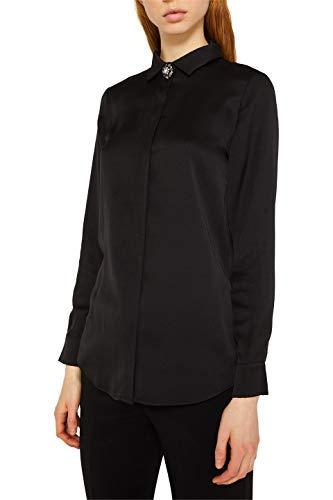 ESPRIT Collection Damen 129EO1F014 Bluse, Schwarz (Black 001), (Herstellergröße: 42)