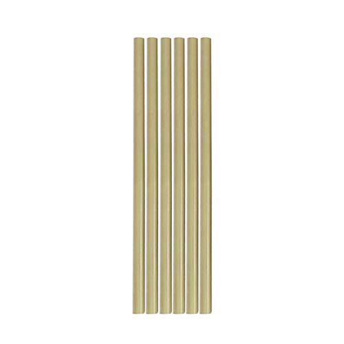 Supvox 6 Stücke Natürliche Bambus Trinkhalme Wiederverwendbare Biologisch Abbaubare Bambus Strohhalme für Kinder und Erwachsene 20 CM