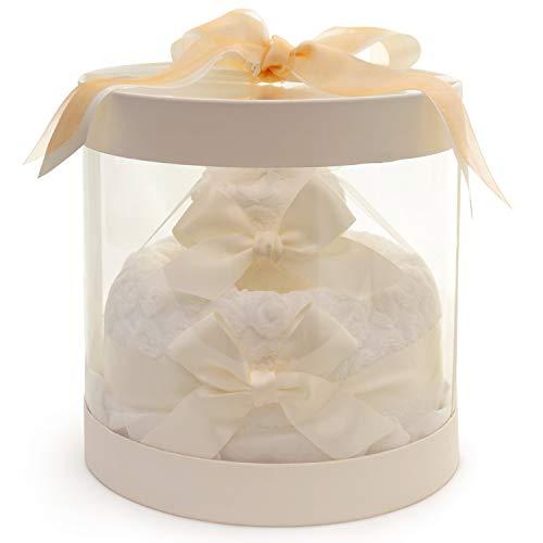 パジャマ屋今治タオルケーキ2段ホールケーキバスタオルとフェイスタオルとハンドタオル5枚セットギフトセット結婚祝い出産祝い