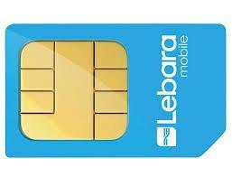 Lebara Pay As You Go SIM (estándar, micro y mini)