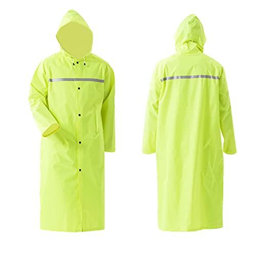Pahajim Fashion Durable Erwachsener Regenjacke Mit Kapuze Wasserdicht Windbreaker Wetterfest Bergsteigeranzug Übergangsjacke Regenmantel (Hellgrün, XL)