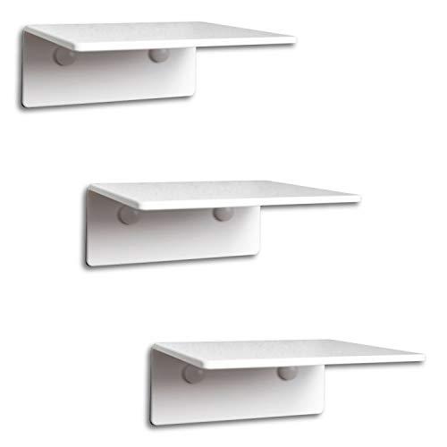 trelixx® SEHR KLEINE Katzentreppe | Katzenleiter | Mini | aus weißem Acrylglas | dreistufig | 14x15cm | für Katzen bis 5kg | ohne Korkauflagen | leichte Montage | großartiges Design | Aufstiegshilfe