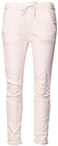 Basic.de Cotton Stretch-Hose im Jogging-Pant Style Weiss XS