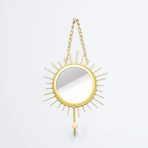 CKH Europese Ins Wind muur veranda plank zon gouden spiegel jas haak muur opknoping kamer creatieve haak sleutelhouder