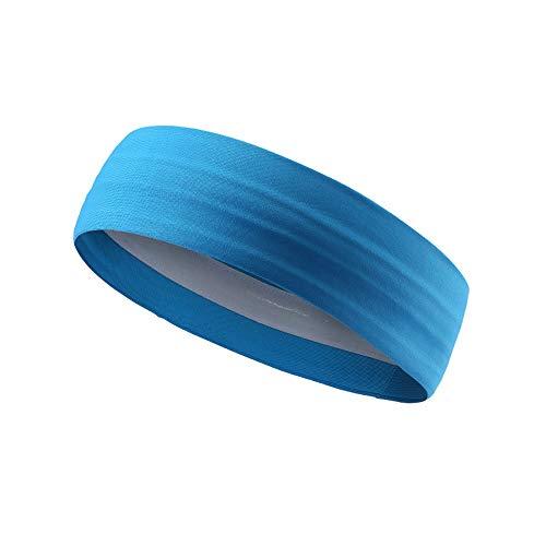 Diadema Deportiva Hombres y mujeres Diadema Chicos Sudadera y deportes Cinta para correr, Crossfit, la competencia Lo último Rendimiento Estiramiento y humedad Travesía y dominación ( Color : Blue )