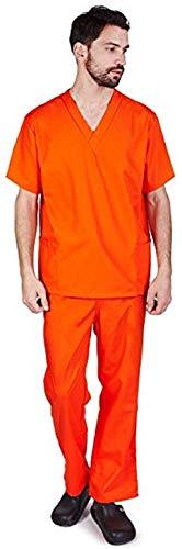 Natural Uniforms Comfortable Fit Men's Workwear Uniform 8 Pocket Top and Pant Set (XL, Orange)