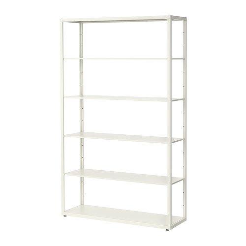 Ikea FJALKINGE–estantería, Blanco–118x 193cm