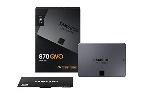 Samsung 870 QVO 2TB SATA 2,5 Zoll Internes Solid State Drive (SSD) (MZ-77Q2T0BW)