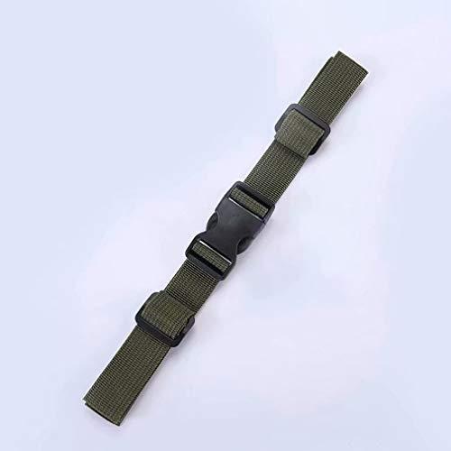 Coollooda Brustgurt Gurt Schnalle Typ Verstellbarer Rucksack Rucksack Fallschutzgurt Fall Schultergurt befestigt Schultergurt ArmyGreen 2.5cm