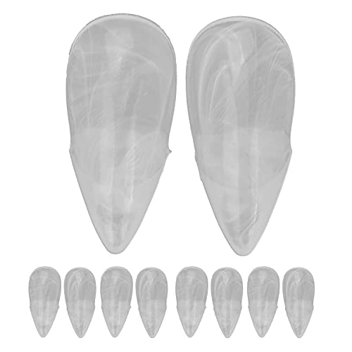 Halloween Fake Fangs, Easy To Wear Reusable Teeth Lifelike for Halloween Parties for Werewolves(17MM)