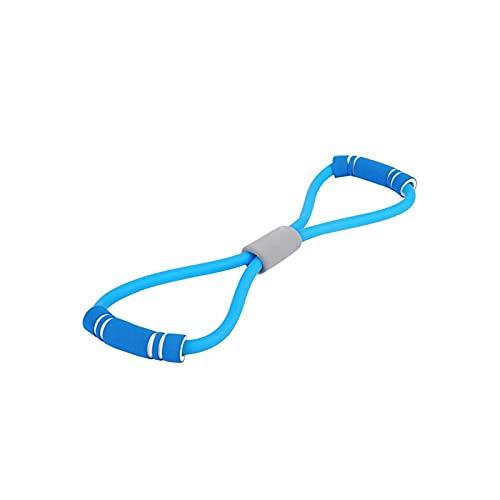 CZFSKCZ Correa de Yoga, 8 Word Yoga Rally Strap Strap Band Stretch Latex Latex Brazo Resistencia Fitness Ejercicio Pilates Elástico Cuerda Yoga Gimnasio (Color : Blue)