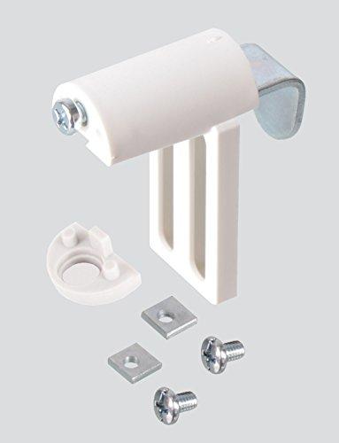 EFIXS Universal Klemmträger MF zur Montage an Rollos, Jalousien und Duorollo Doppelrollo - Farbe: Weiss - OHNE Bohren - 2 Stück = 1 Paar