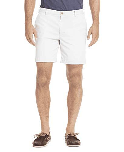 "IZOD Men's Saltwater Stretch 7"" Chino Short, Bright White Legacy, 40"