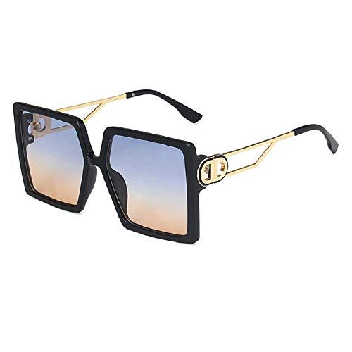 NBJSL Gafas De Sol Hexagonales De Moda Para Mujer, Gafas De Sol De Gran Tamaño Con Tonos Vintage (Caja De Embalaje Exquisita)