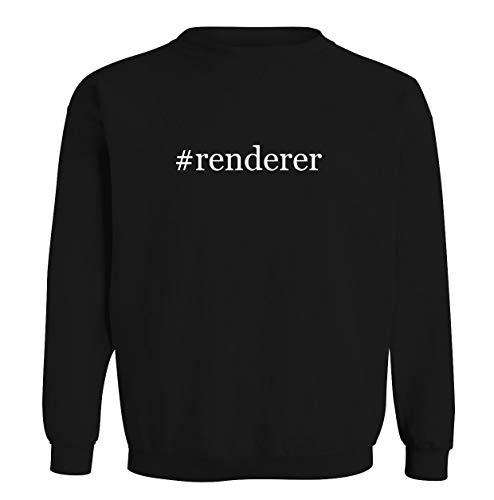 #renderer - Men's Hashtag Soft & Comfortable Long Sleeve T-Shirt, Black, XX-Large