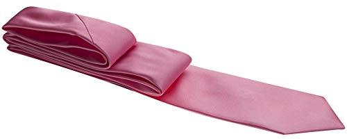 Gravata rosa lisa - Slim