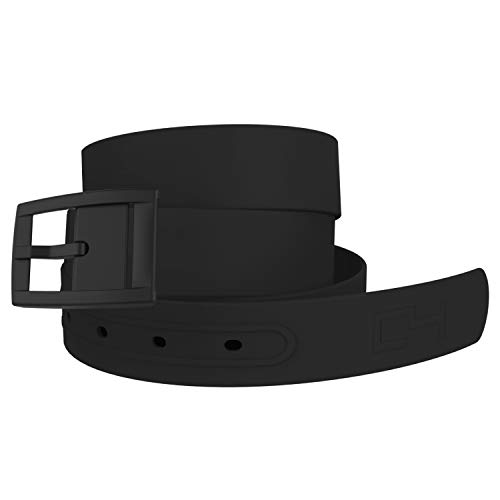 C4 Classic Premium Hypoallergenic and Metal Free Belt and Buckle (Black Strap with Black Buckle) - Fashion Belt - Waist Belt