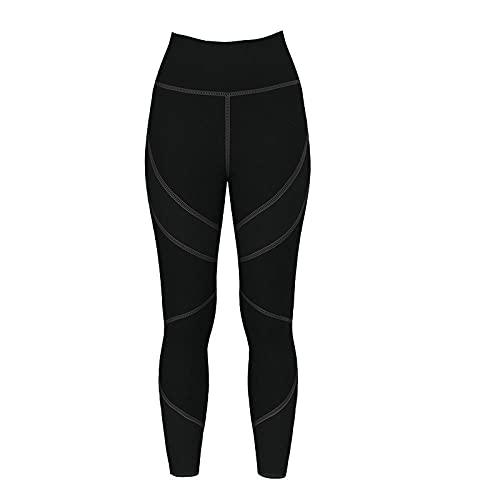 XUNHOU Leggings de Yoga Ultra Suaves y cómodos,Pantalones de Yoga elásticos de Cintura Alta,Leggings Deportivos Que levantan la Cadera-Negro_S,Leggings de Deportivos Gym únicos