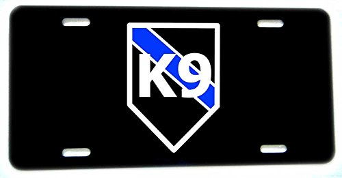 BrotherhoodProducts Thin Blue Line K9 Canine Aluminum License Plate