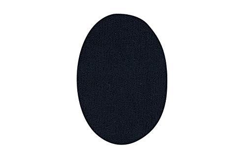 Rodilleras para chándal | Parches termoadhesivos para reparar ropa deportiva. 6 Coderas o rodilleras de 13,9 x 9,3 cms. Color: negro