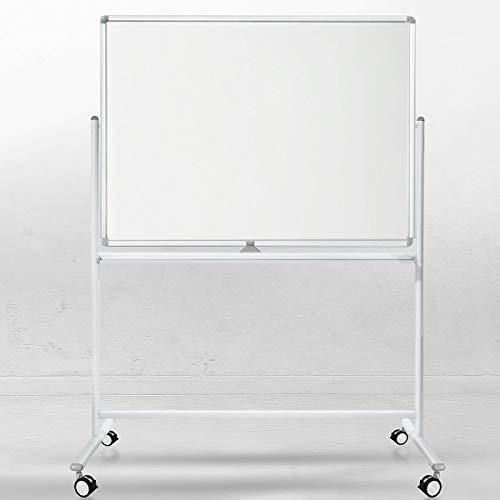Certeo Whiteboard | Lackiert | Mobil & drehbar | BxH 150 x 100 cm | Whiteboard Tafel Magnettafel