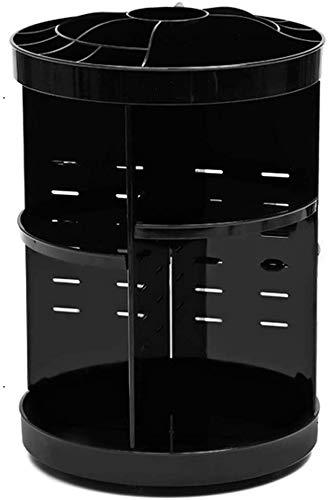 Organizer Make-up Make-up Lagerung Veranstalter Haushalt Dresser Skincare Lippenstift Finishing Tabelle Regal Modernen Rotary Kosmetik-Aufbewahrungsbehälter (Farbe: schwarz, Größe: 23,5 * 23,5 * 34cm)