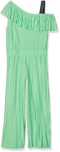 NAME IT Nkfhosta Ankel SL Jumpsuit Pantalones de Peto, Verde (Spring Bud Spring Bud), 116 para Niñas