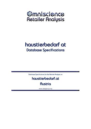 haustierbedarf.at - Austria: Retailer Analysis Database Specifications (Omniscience Retailer Analysis - Austria Book 44086) (English Edition)
