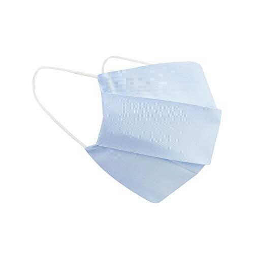 PREMIUM Kinder Jungen & Mädchen Stoffmaske + 3x Silberionen-Einlagen waschbar & wiederverwendbar Baumwolle Behelfsmaske Alltagsmaske mit Filterfach BLUE SKY