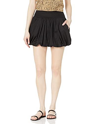 Ramy Brook Women's Pattie Bubble Skirt, Black, Medium