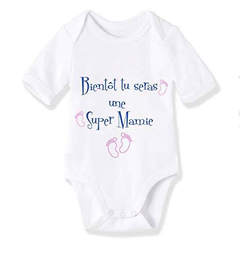 body personnalisé bébé Annonce - Bientôt mamie/bientôt papy !