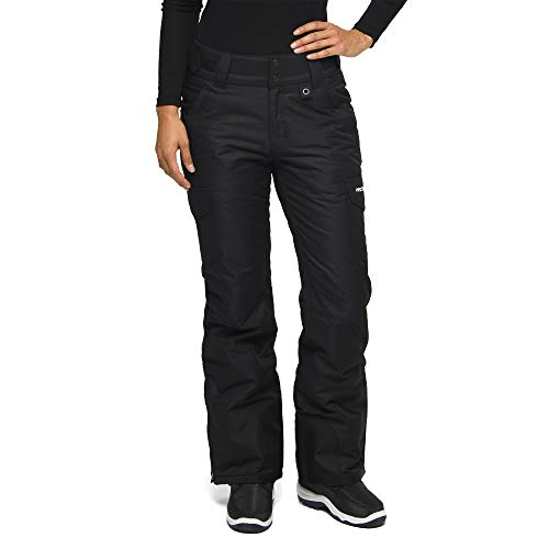 Arctix Women's Snow Sports Insulated Cargo Pants, Black, X-Large