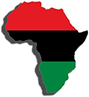 Africa Shaped Pan African Flag Sticker (Black History American)