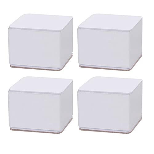 4 PIEZAS 6 cm Muebles cuadrados de acero de carbono Aumento de la almohadilla de pie Desgaste resistente a la mesa de tableta Mesa de café Sofá cama antideslizante pierna ( Color : 4pcs 5.3cm white )