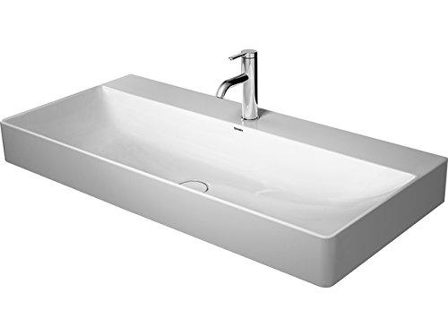 Duravit Möbelwaschtisch DuraSquare 1000mm Weiß, 2 Hahnlöcher Mitte, WG, 23531000401