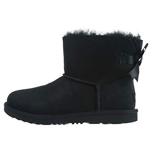 UGG Mädchen T Mini Bailey Bow II Pull-On Boot, Black, 26 EU