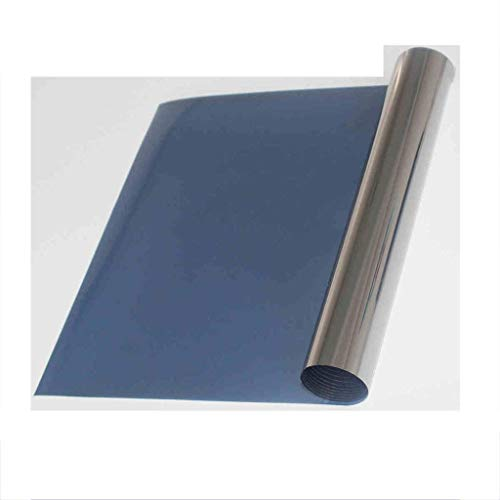 ZXL Raamfolie, zichtwerende folie, glasfolie, unidirectioneel blauw, zilver, spiegelsticker, huis, zonne-energie, balkon, ramen, explosieveilig inhibitieiesnelheid