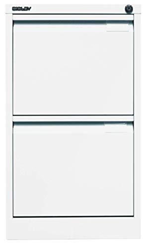 BISLEY H61101–Armario, einbahnig, DIN A4, 2cajones, HR de Metal, 696Tráfico Color Blanco, 62.2X 41.3x 71.099999999999994cm ⭐