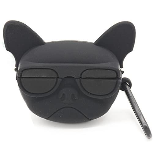 Akancy Compatible con la Funda para Auriculares Huawei Freebuds 4i, [Admite Carga inalámbrica] [Funda Protectora a Prueba de Golpes] Funda Protectora de Silicona para Auriculares (Dog with Glasses)
