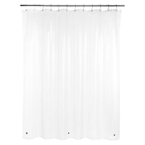 Amazon Basics – PEVA-Duschvorhang mittelschwer, klar, 183 x 200 cm